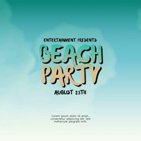 beach party video ad template