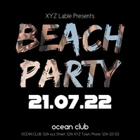Beach Party Video People Summer Sun Bar Ad
