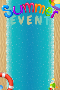 Beach Pool Party Summer Sand Water Vacation Event