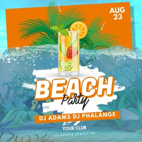 beach Pool Water Party Video Template