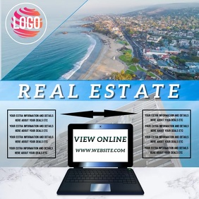 BEACH REAL ESTATE AD TEMPLATE