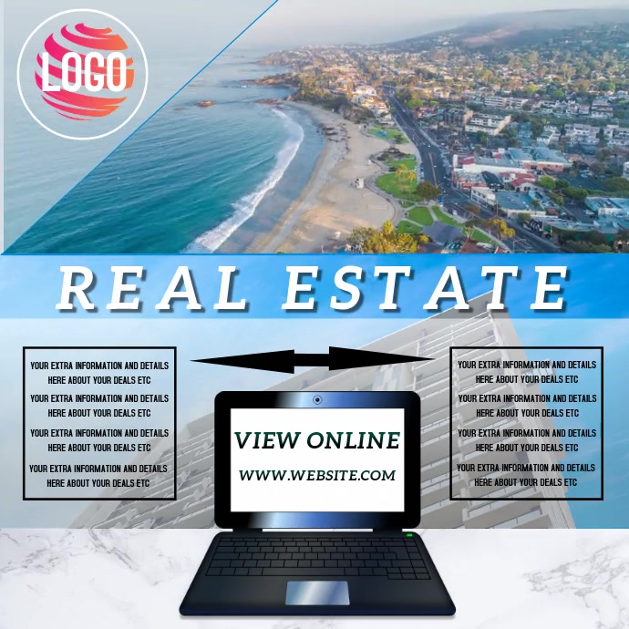 BEACH REAL ESTATE AD TEMPLATE
