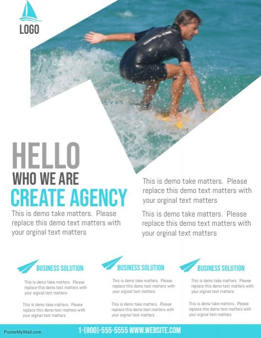 beach resort party flyer template