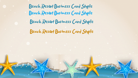 Beach Resort Style Business Card