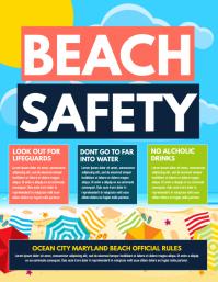 Beach safety Pamflet (VSA Brief) template