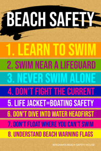Beach Safety Poster