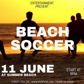 Beach soccer video flyer template