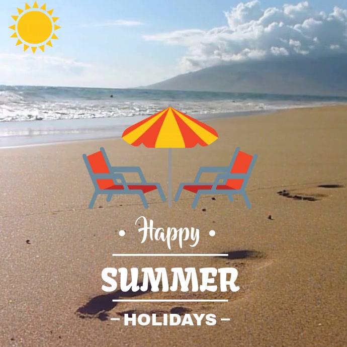 BEACH SUMMER VIDEO AD TEMPLATE