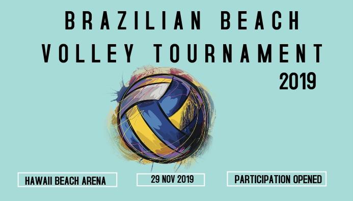 BEACH VOLLEYBALL Header Blog template