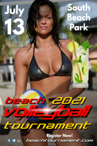 Beach Volleyball Tournament Poster