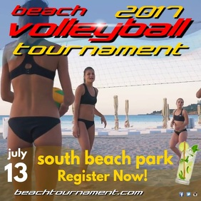 Beach Volleyball Tournament Instagram Post Iphosti le-Instagram template