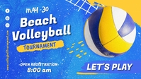 Beach Volleyball Tournaments Facebook 封面视频 (16:9) template