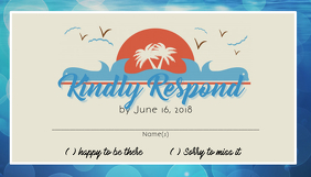 Beach Wedding RSVP