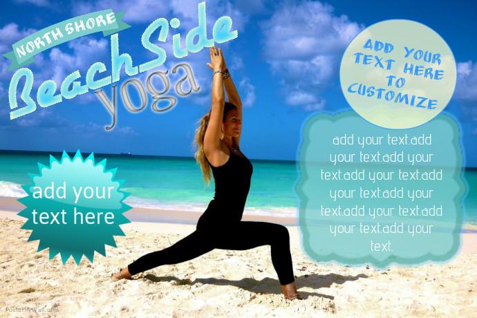 Plantilla de Publicitarios de Yoga en La Playa | PosterMyWall