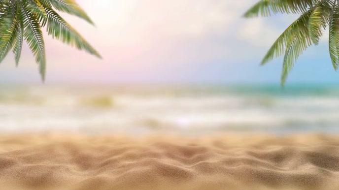 Beach Zoom Virtual Background Video Pagtatanghal (16:9) template