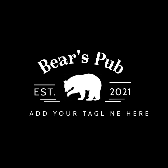 bear's pub logo icon template design Logótipo