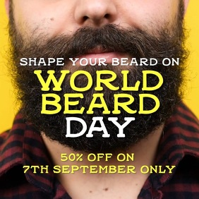 Beard day Persegi (1:1) template