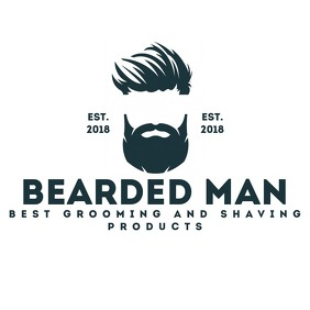 Beard face barber logo template