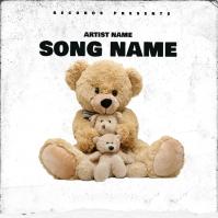 Bears rap mixtape cover art design template Copertina album
