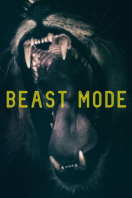 beast-mode inspirational poster Cartaz template