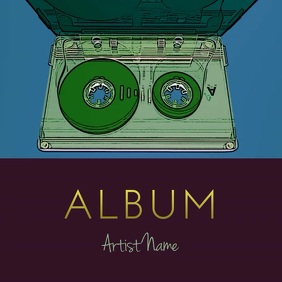 Beat tape album animation video