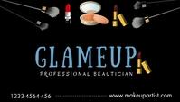 Beautician business card Tarjeta de Presentación template