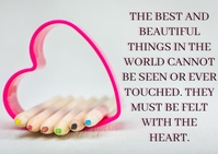 BEAUTIFUL AND HEART QUOTE TEMPLATE A6