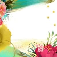 Beautiful Artistic Watercolor Colorful Floral Logo template