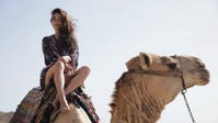 Beautiful camel ride in desert video template