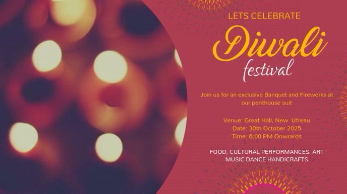 Beautiful Diwali Advertisement Video Template