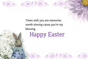Beautiful Easter Blessings Poster
