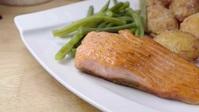 Beautiful fish dish food in restaurant video YouTube Thumbnail template