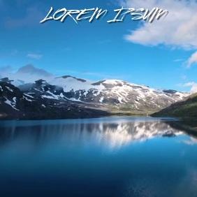 BEAUTIFUL ICE SNOW LAKE MOUNTAIN BACKGROUND