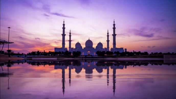 Beautiful mosque at evening time video YouTube-miniature template