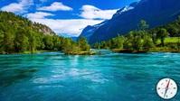 beautiful river view mountain and tree video Miniatura di YouTube template