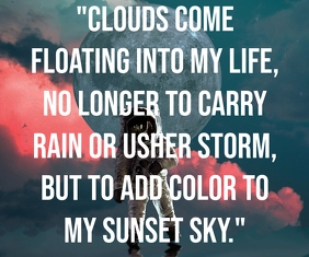 BEAUTIFUL SKY QUOTE TEMPLATE