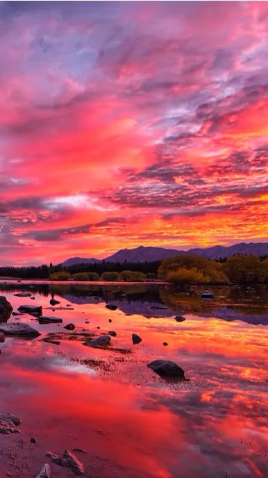Beautiful Sunset TikTok Background Video Instagram Story template