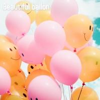 beautifull ballon Album Omslag template