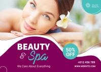 Beauty & Spa Banner Ad 明信片 template