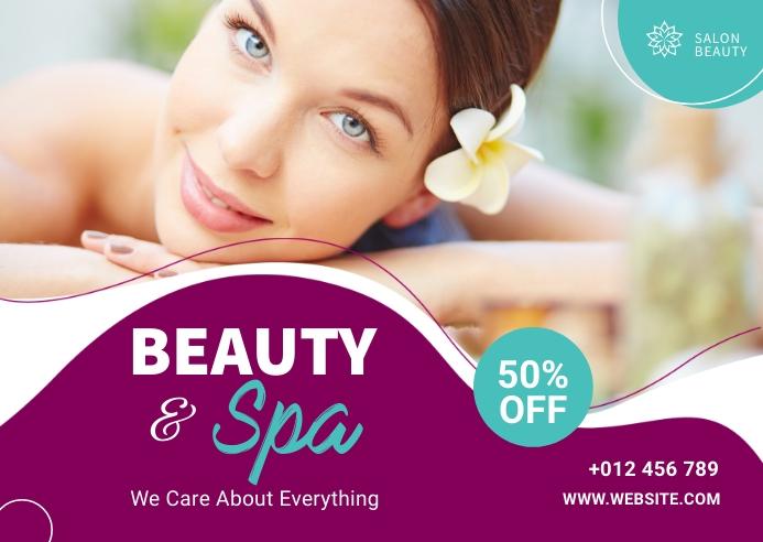Beauty & Spa Banner Ad Postkort template