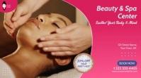 Beauty & Spa Center Video Ad Ecrã digital (16:9) template