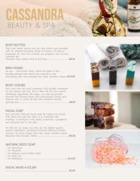 Beauty & Spa Price List Flyer Template