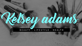 Beauty & Lifestyle YouTube Channel Art template Affichage numérique (16:9)