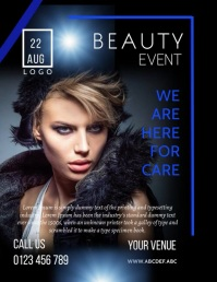 beauty and saloon flyer,small business flyer template