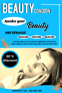 beauty and saloon flyer,small business flyer