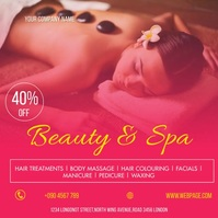 BEAUTY AND SPA FLYER Instagram-Beitrag template