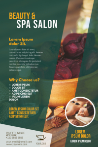 Beauty and Spa salon Flyer Template