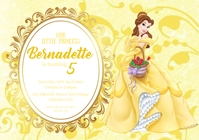 Beauty and the Beast Birthday Invitation A4 template