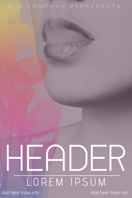 beauty book cover flyer template