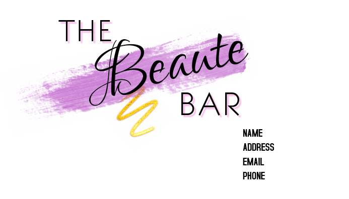 Beauty business card template postermywall beauty business card customize template accmission Gallery